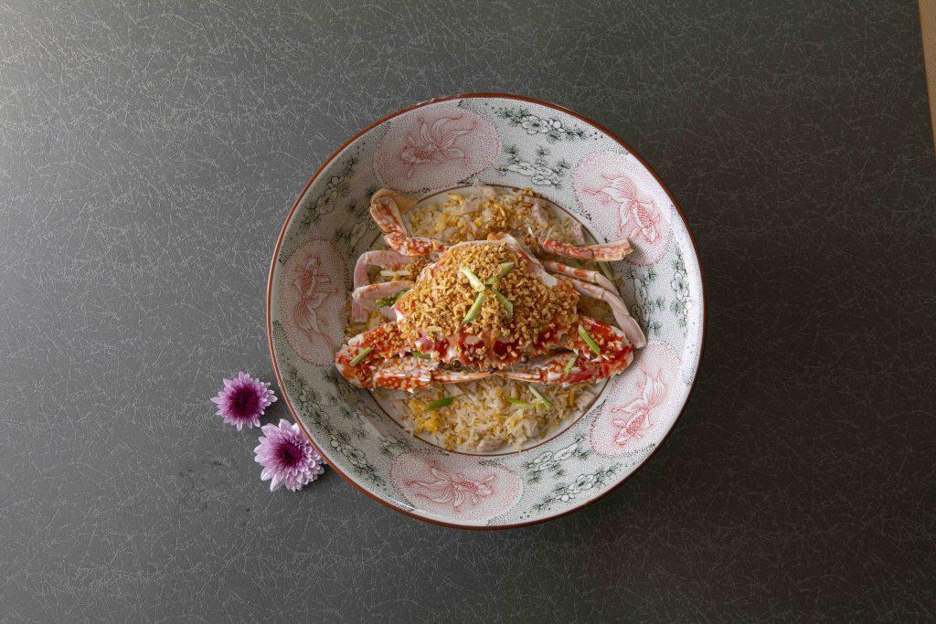 金蒜蒸蟹飯